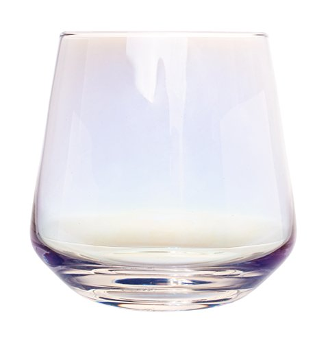 - Iris Iridescent Crystal Stemless Wine Glasses - Set of 4, 12 Ounce