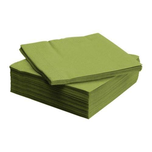 (IKEA FANTASTISK Paper Napkin, Medium Green (100))