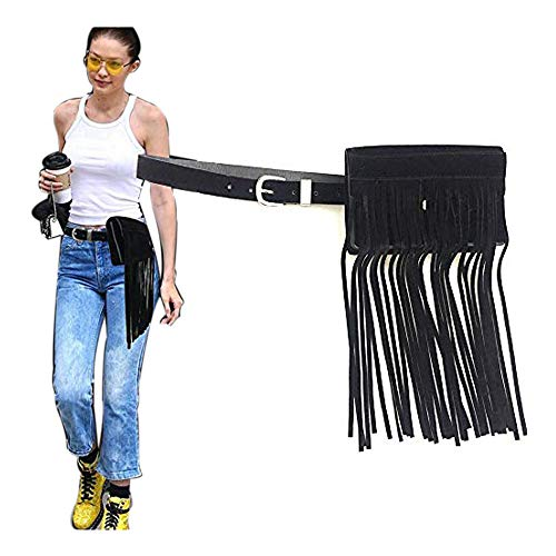 - Fashion Luxury Rhinestone Tassel Fanny Pack,VITORIA'S GIFT Removable Belt With MINI Purse Travel Cell Phone Bag