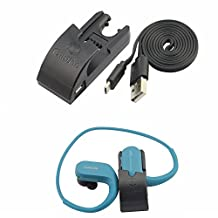 SONY NW-WS414 NW-WS413 Accessories,Replace Data Sync Cradle Dock Desktop USB Charging Clip Charger for SONY NW-WS414 Walkman Headphone-integrated