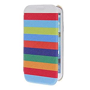 Buy Rainbow Plastic and PU Leather Protective Cover Case for Samsung Galaxy S4 I9500/I9505