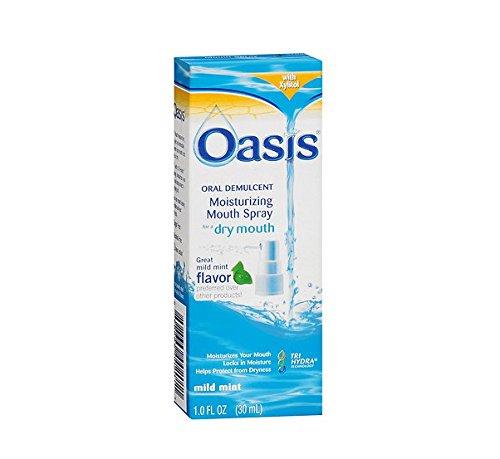 - Oasis Moisturizing Mouth Spray for Dry Mouth Mild Mint -- 1 fl oz - 2pc