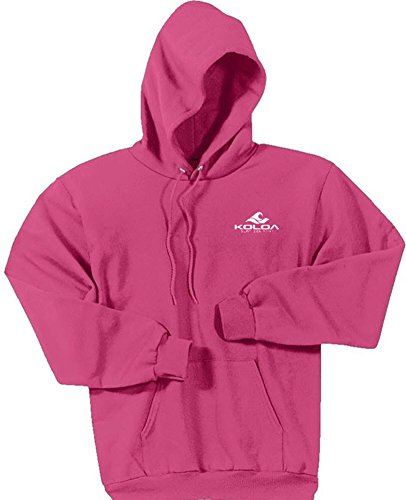 Koloa Classic 2 Side Wave Logo Hoodies-Hooded Sweatshirt-Sangria-L