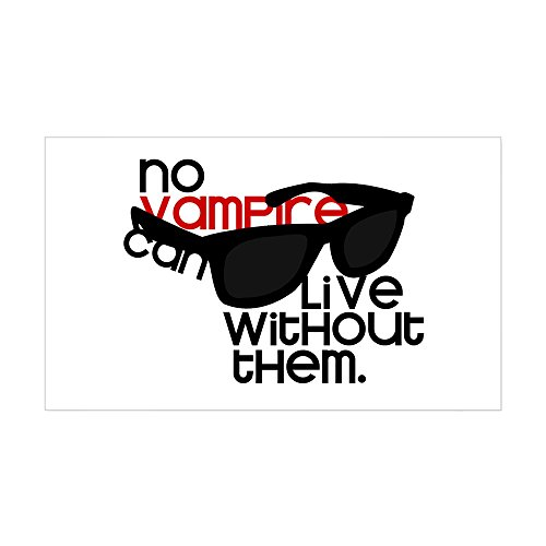 CafePress - No Vampire - Rectangle Sticker - Rectangle Bumper Sticker Car - Pattinson Robert Glasses