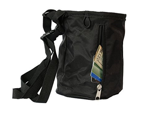 Myotek Chalk Bag and Ball Bundle for Rock Climbing, Gymnastics, Weightlifting, and Bouldering 2oz Chalk Ball and Waist Belt Included Large Size Zippered Pocket for Valuables