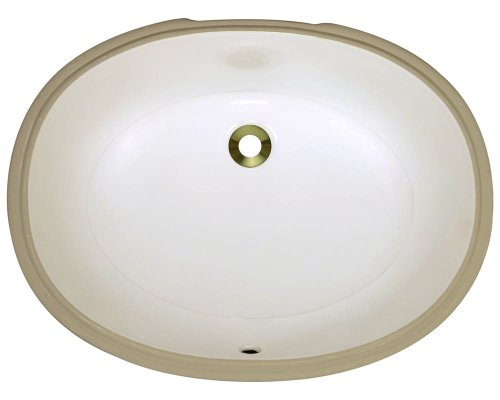 Cheap  Polaris Sinks PUPLB Bisque Undermount Porcelain Bathroom Sink