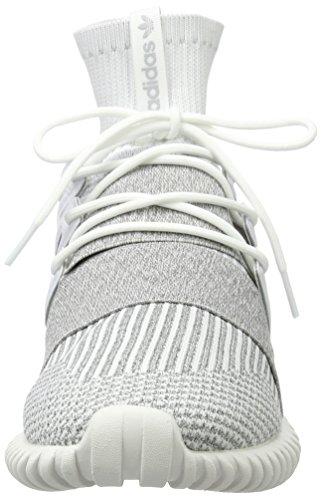 adidas Unisex-Erwachsene Tubular Doom Primeknit Sneakers Weiß (Footwear White/footwear White/clear Grey)