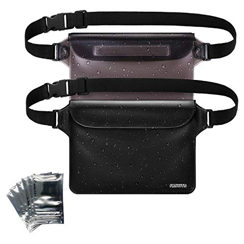 Dry Waist Pouch - FANYSTD Waterproof Pouch with Waist Strap, Transparent Screen Touchable Dry Bag with Super Lightweight and Bigger Space; Adjustable and Extra-Long Belt; Perfect for Beach/Swimming/Boating/Fishing etc