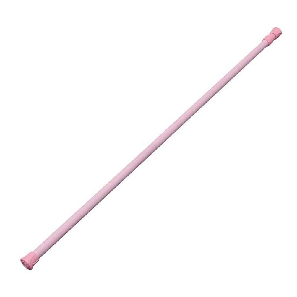 Amesii - Asta a molla telescopica e allungabile per armadi, tende per doccia e finestre, color legno, 60-110 cm Pink 60-110cm