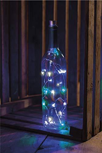 Primitives by Kathy Wine Bottle Lights Triple Color Blue
