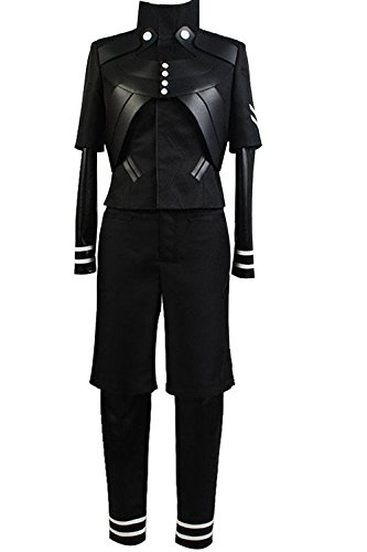 Ya-cos Halloween Men's Tokyo Ghoul Ken Kaneki Jumpsuit Battle Uniform Cosplay Costume (Custome -