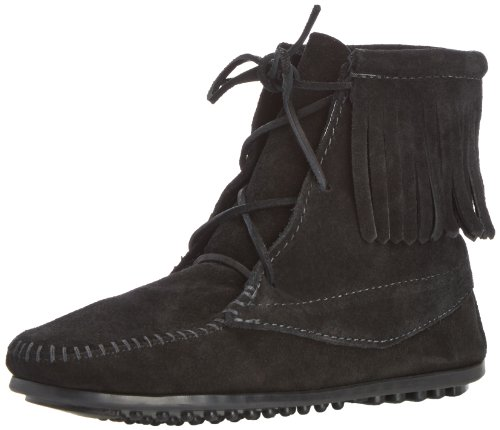 Ankle Hi Tramper Boot (Minnetonka Tramper Boot (Toddler/Little Kid/Big Kid),Black,3 M US Little Kid)