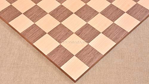 Minimalist Walnut Maple Wooden Chess Board Matte Finish Borderless Chess Board 19