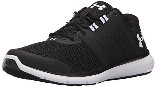 Image of Under Armour Women's Fuse FST Running Shoe, Black (001)/White, 8