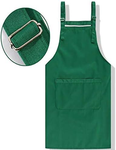 ガーデニングエプロン 男性と女性のためのユーティリティツールポケット付き調整可能な防水作業エプロン