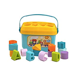 Playkidz Shape Sorter Baby and Toddler Toy, ABC and Shape Pieces, Sorting Shape Game, Developmental Toy for Children 18 Months+