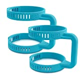 Clip Grip Adjustable Handle Accessory- Fits All Cups, Tumblers, Jars, Containers - No Slip Easy Grip for Arthritis, Parkinson's, Physical Impairments, Weak Grip (2 Assorted Colors)