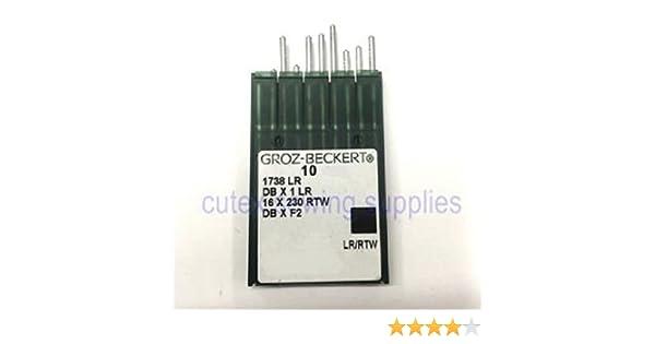 Amazon.com: 10 Pk. Groz-Beckert 16X257LR DBX1LR DBXF2 ...