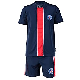 PARIS SAINT GERMAIN Maillot + Short PSG - Collection Officielle Taille Enfant