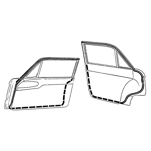 DENNIS CARPENTER FORD RESTORATION PARTS 1960-1965 4-DOOR FALCON DOOR SEALS KIT - Ford Falcon Restoration