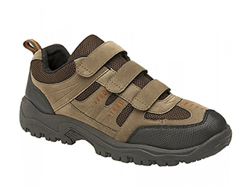 Mens DEK ASCEND Triple touch fastening Trek & trail Shoe Khaki/Brown Textile/Synth.Nubuck