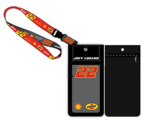 Joey Logano #22 Pennzoil Nascar Deluxe Credential Holder w/Lanyard