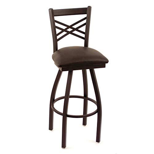 Holland Bar Stool Cambridge Black Extra Tall Lattice-Back Swivel Barstool ()