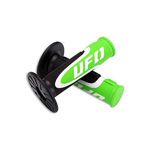 Pu/ños para manillar Axiom triple densidad verde y blanco UFO negro para moto de moto cross