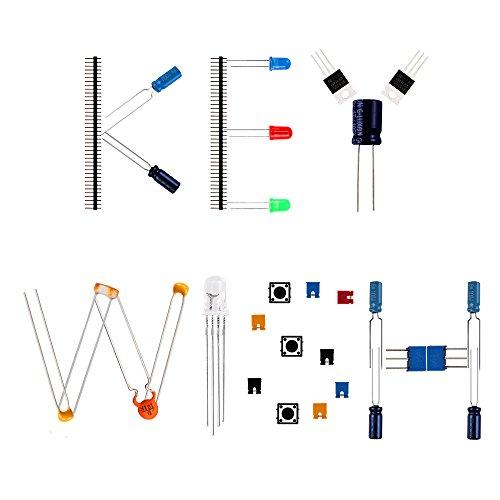 keywish electronics basic component starter kit w  breadboard jumper wires color led resistors