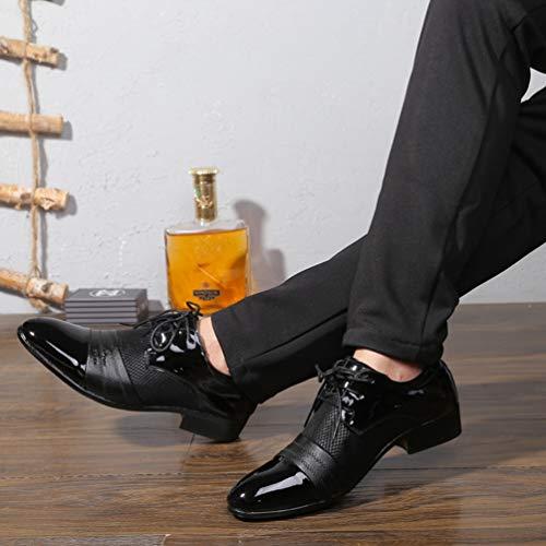 Respirable Hombres Charol Vestir Salidas Formales Oxford Zapatos qf5wdq1P