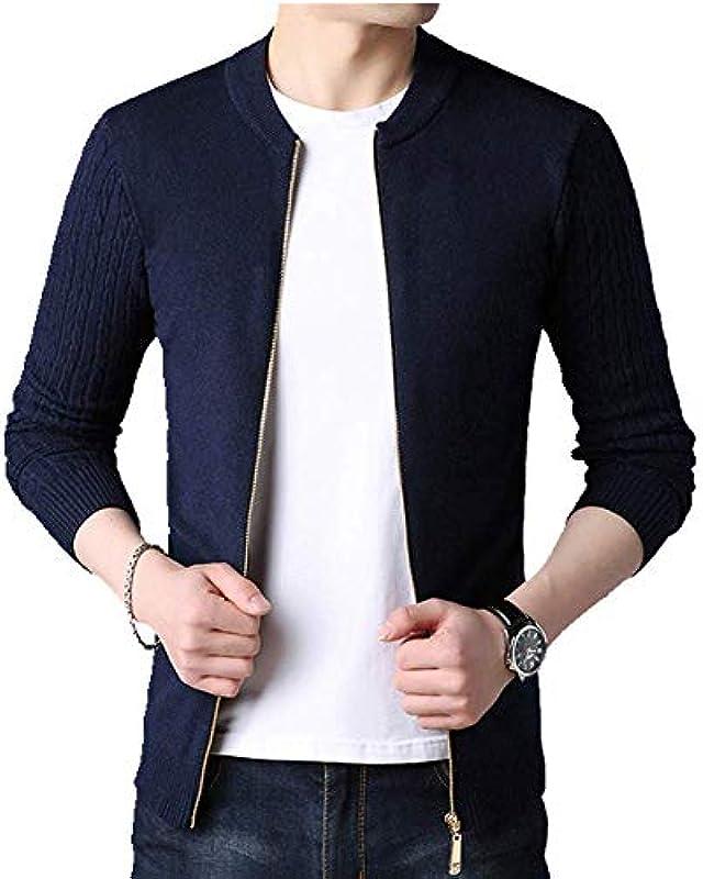 U/A Herbst Winter Strick Cardigan Męskie Pullover Cardigan Sweater Męskie Slim Sweater Mantel Pure Color Jacke Cardigan: Odzież