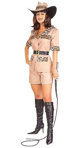 Womens Costume Lion Tamer Safari Girl Hunter Outfit
