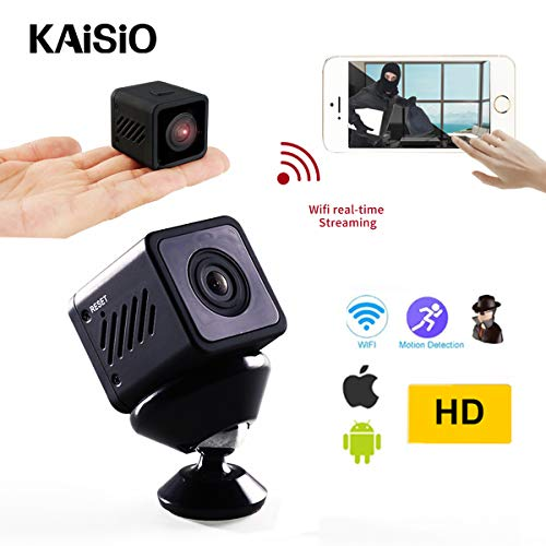 Hidden Spy Camera with Audio-1080P Portable Small Security Camcorder with Perfect Night Vision for Home and Office sercurity WiFi