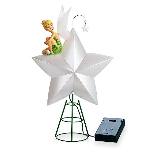 Disney Tinker Bell Light-Up Tree Topper (Tree Disney Toppers Christmas)