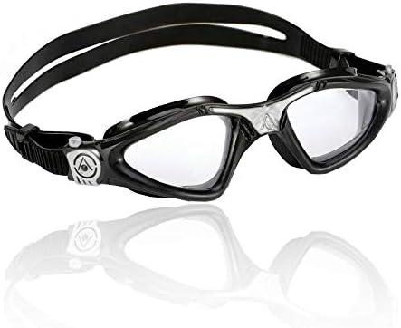 6edf6427490 Aqua Sphere Unisex Adult Kayenne Swimming Goggles, Black, One Size ...