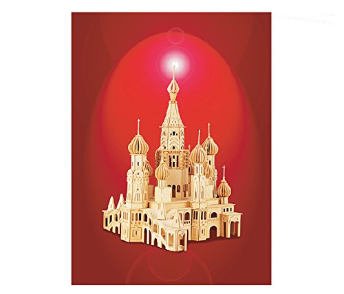 3-D Wooden Puzzle - St Petersburg Church -Affordable Gift