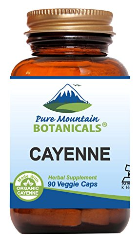 (Cayenne Pepper Capsules - 90 Kosher Vegan Caps - Now with 500mg Organic Cayenne Pepper Powder)