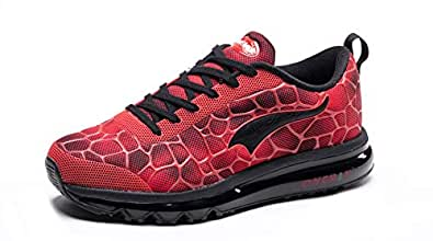 size 40 73f8a b1201 ONEMIX Men s Lightweight Air Cushion Sport Running Shoes,Red Black Sneakers  Size 6.5 D