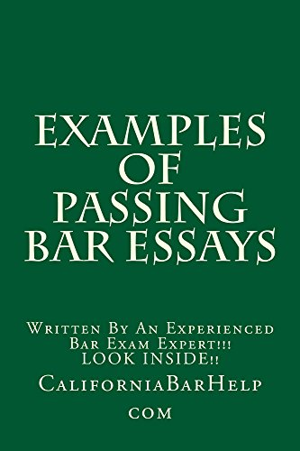 Animal Testing Essay Thesis Examples Of Passing Bar Essays E Law Book Look Inside Compiled By Bar How To Write A Proposal Essay also Essay Of Health Amazoncom Examples Of Passing Bar Essays E Law Book Look Inside  Essay About Science