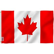 Anley [Fly Breeze 3x5 Foot Canada Flag - Vivid Color and UV Fade Resistant - Canvas Header and Double Stitched - Canadian National Flags Polyester with Brass Grommets 3 X 5 Ft