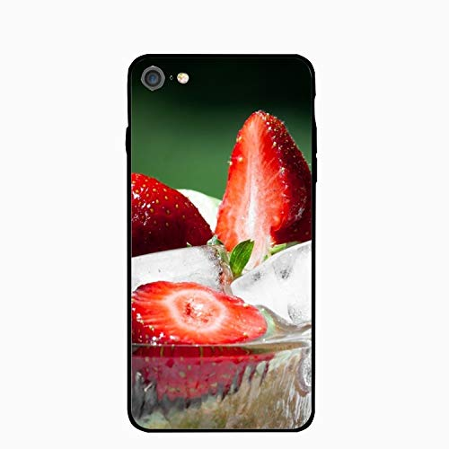 iPhone 6S Case for Girls/iPhone 6 Case, Strawberries Ice Plates Bowls Dessert Slim-Fit Shock Proof Anti-Finger Print Gel Case for iPhone 6S/iPhone 6