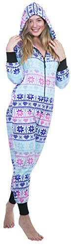 Totally Pink Women's Plush Warm and Cozy Character Adult Onesie/Pajamas/Onesie (Small, Multi)