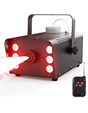 Fog Machine, 450W 6 LEDs Smoke Machine with 2500CFM Fog, Theefun 7 Colors & Strobe Effect Halloween Fog Machine with Wireless Remote Control for Wedding, Party, Halloween and Stage Effect