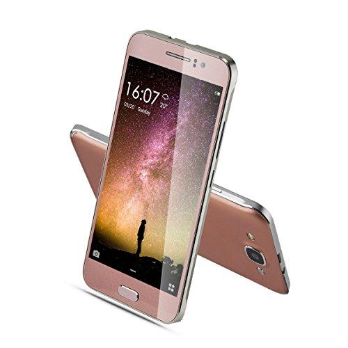 "CHSLING Unlocked Phones 5.0"" Anroid 5.1 MTK6580 Quad Core ROM 4GB 5.0MP Camera GSM/3G Quadband Dual Sim Cellphones Smartphones WIFI Bluetooth Pink"