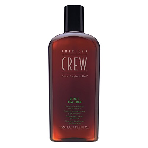 American Crew 3-In-1 Tea Tree Body Cleanser, 15.02 Ounce
