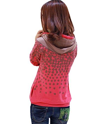 MatchLife - Sudadera - para mujer Red-Fleece