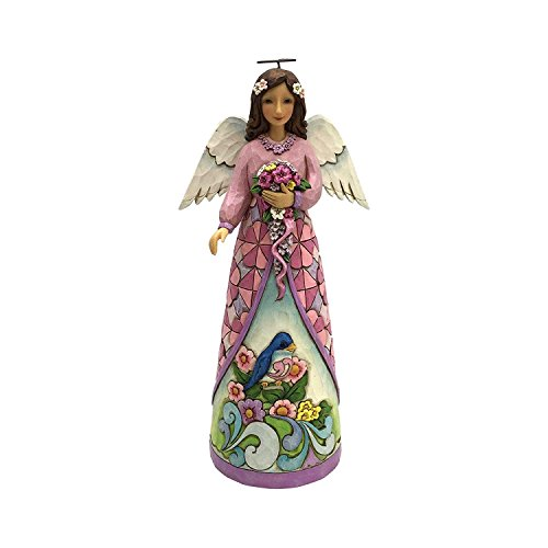 Jim Shore Angel Spring - Jim Shore Heartwood Creek Bloom from Within Angel with Flowers Figurine 4056954