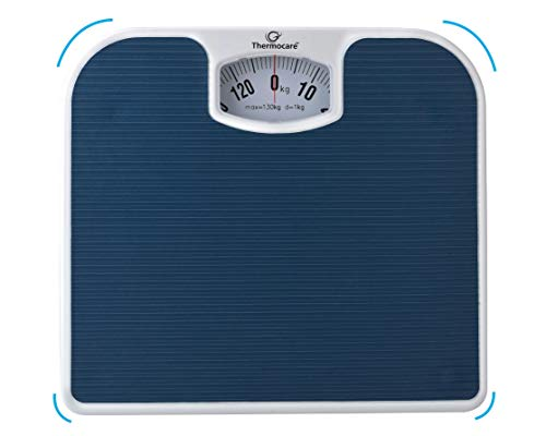 Thermocare Manual Weighing Machine for Human Body Weight Analogue Scale Camery for Home (Blue)