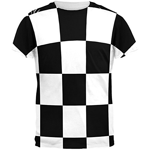 Shirts Checkered Flag (Finish Line Checkered Flag All Over Adult T-Shirt - X-Large)