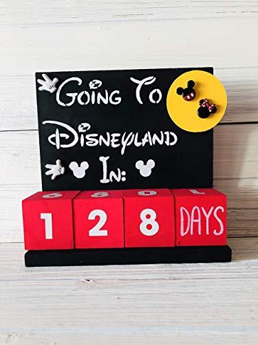 Countdown Calendar For Disneyland Vacation Trip Reminder Home Decor